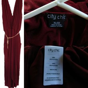 City Chic Sexy Slink Dress Size 22 XL